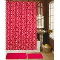 Paragon Fuchsia Decor Collection Shower Curtain, Hooks and Bath Rug 15-piece Set