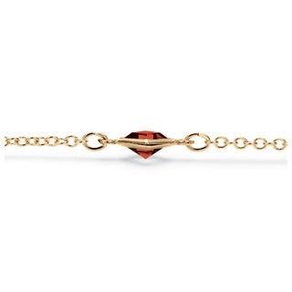PalmBeach Princess-cut Crystal Birthstone Necklace Color Fun