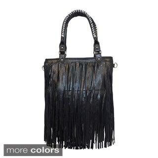 Western Fringe Tote Bag