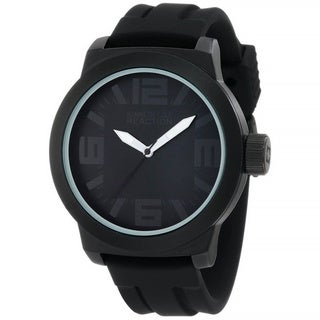 Kenneth Cole Reaction Men's Reaction RK1233 Black Silicone Analog Quartz Watch with Black Dial