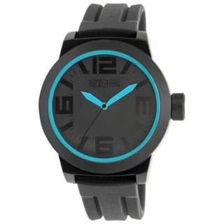 Kenneth Cole Reaction Men's Reaction RK1234 Black Silicone Analog Quartz Watch with Black Dial