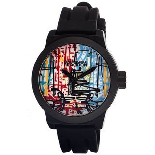 Kenneth Cole Reaction Men's Reaction RK1251 Black Silicone Quartz Watch with White Dial