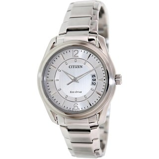 Citizen Men's Eco-Drive AW1030-50B Silvertone Stainless Steel Eco-Drive Watch with Silvertone Dial