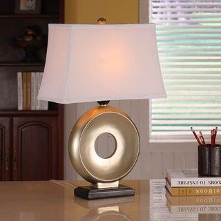 Gold Leaf/ Black Key-hole Table Lamps