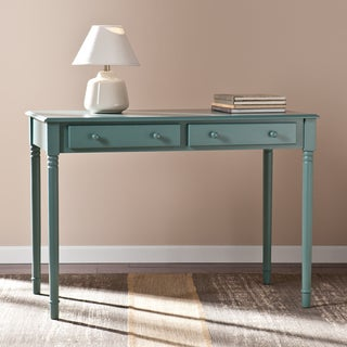 Upton Home Winfield Agate Green 2-Drawer Writing Desk