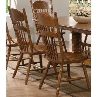 Trieste Windsor Country Style Dining Chairs (Set of 2)