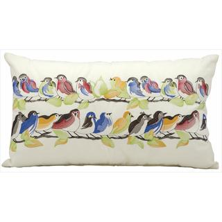 Mina Victory by Nourison White Birds Indoor/ Outdoor Throw Pillow