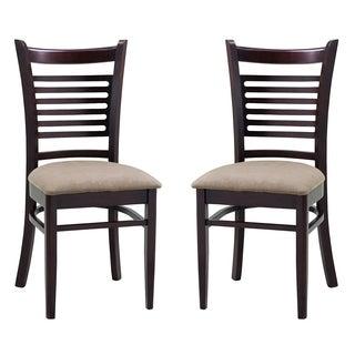 ABBYSON LIVING Bahama Light Brown Fabric Dining Chair (Set of 2)
