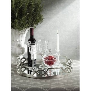 Chain Link Design Tray With Mirror Insert