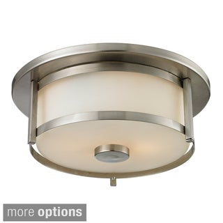 Z-Lite Savannah 2-light Matte Opal Glass Flush Mount