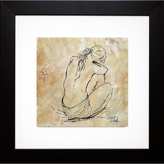 Patricia Pinto 'Nude Sketch on Beige I' Framed Art Print