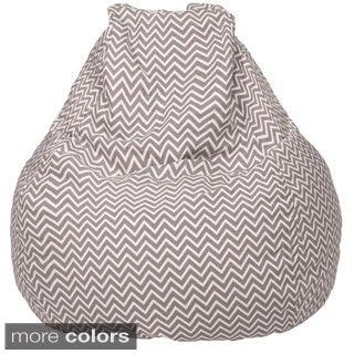 Large Teardrop 100-percent Cotton Cosmo Zig Zag Print Bean Bag