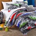 Chic Home Hero Printed White/Grey 9-piece Dorm Room Bedding Set
