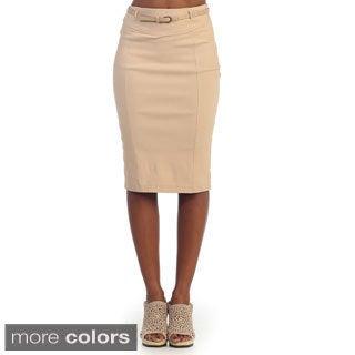 Hadari Women's Knee-length Pencil Skirt