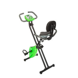 FitLife Green Folding Upright Magnetic Resistance Exercise Bike