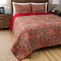 Persian Multicolored Cotton 3-piece Quilt Set