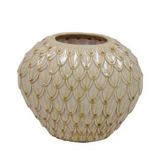 Small Antique White Ceramic Vase