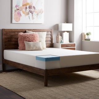 SL Loft Medium Firm 10-inch Twin-size Gel Memory Foam Mattress with EZ Fit Foundation