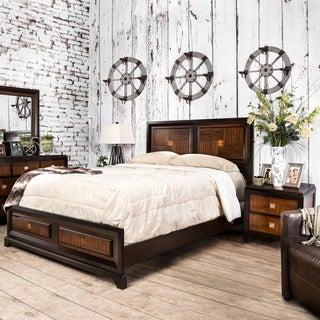 Furniture of America Duo-tone 2-piece Acacia and Walnut Bedroom Set