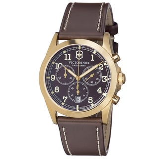 Swiss Army Men's 241647 'Infantry' Brown Dial Brown Leather Strap Quartz Watch