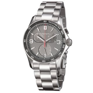 Swiss Army Men's 241656 'Chrono Classic' Grey Dial Stainless Steel Quartz Watch