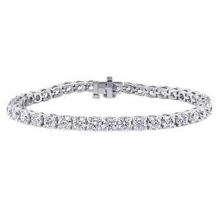 14k White Gold 10ct TDW Diamond Tennis Bracelet (F-G, VS1-VS2)