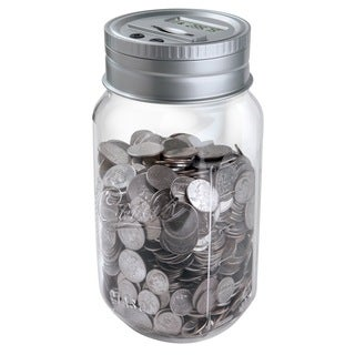 Black Series Digital Counting Money Mason Jar