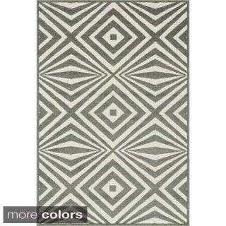 Indoor/ Outdoor Palm Diamond Rug (9'2 x 12'1)