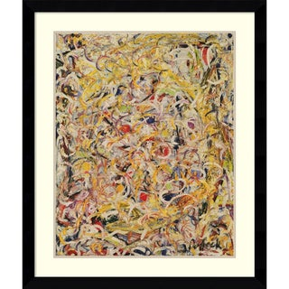 Jackson Pollock 'Shimmering Substance, 1946' Framed Art Print 33 x 39-inch