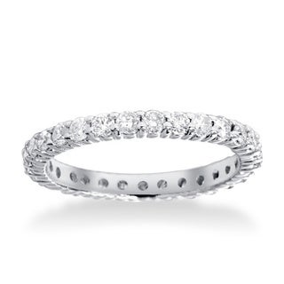 Bliss 14k White Gold 1ct TDW Diamond Eternity Wedding Ring (G-H, I1-I2)