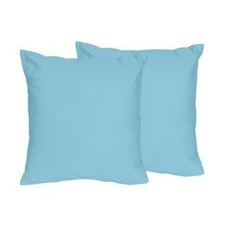 Sweet Jojo Designs Turquoise Throw Pillows (Set of 2)
