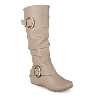 Journee Collection Women's 'Paris' Regular and Wide-calf Slouch Buckle Knee-high Boot