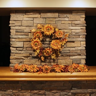 Christopher Knight Home 60-inch Fall Sunflower Berry Garland
