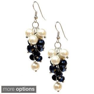 Bleek2Sheek Vine-ology Glass Pearl and Crystal Vine Cluster Earrings