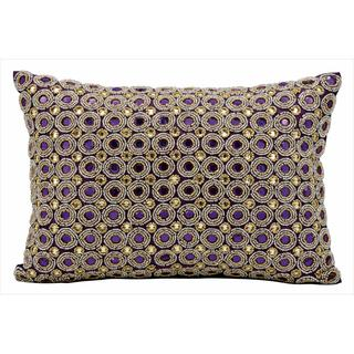 "Nourison Kathy Ireland Purple Pillow (10"" x 14"")"