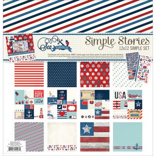 "Simple Stories Simple Sets Collection Kit 12""X12""-Sea To Shining Sea"