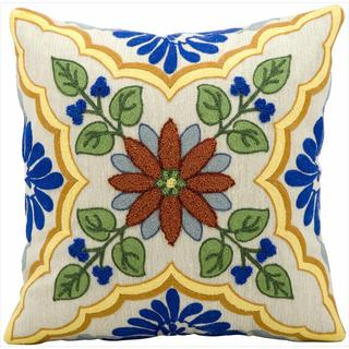 Nourison Kathy Ireland Ivory/ Blue 18-inch Pillow