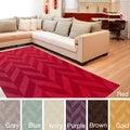 Artistic Weavers Hand-woven Ann Tone-on-Tone Geometric Zig-Zag Wool Area Rug (8' x 10')