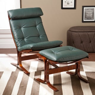 Upton Home Westbrook Hunter Green Chair and Ottoman