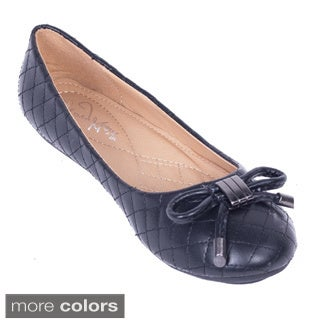 Women's Quilted Bowtie Ballerina Flats