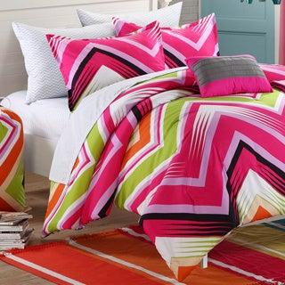 Chic Home Ziggy Zag Fuchsia Reversible 9-piece Dorm Room Bedding Set