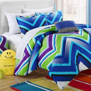 Chic Home Ziggy Zag Blue 9-piece Dorm Room Bedding Set