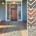 Meticulously Woven Jasmine Contemporary Geometric Indoor/Outdoor Area Rug (2'3 x 7'9)