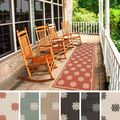 Meticulously Woven Jenna Contemporary Floral Indoor/Outdoor Area Rug (2'3 x 11'9)