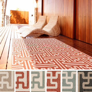 Meticulously Woven Nikki Contemporary Geometric Indoor/ Outdoor Area Rug (6' x 9')