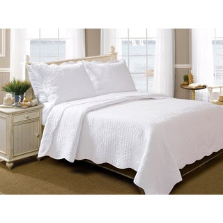 Greenland Home Fashions La Jolla Seashell Pure Cotton 3-piece Quilt Set