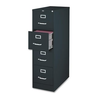Lorell Black 52-inch Vertical File Cabinet