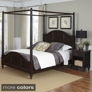 Bermuda Canopy Bed and Night Stand