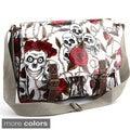 Skulls and Roses Oilcloth Messenger Bag
