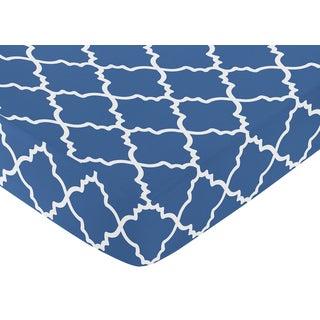 Sweet Jojo Designs Blue Trellis Fitted Crib Sheet